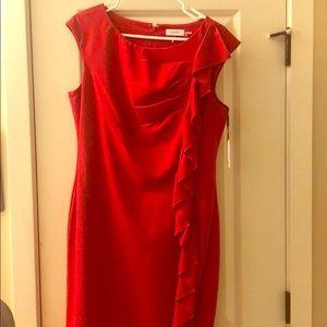 Calvin Klein red mini cocktail dress size 12